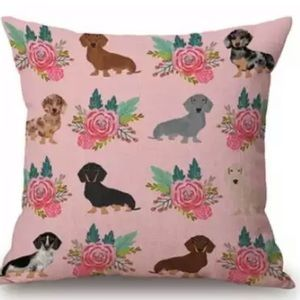 """NWT Dachshund Pillow Cover 